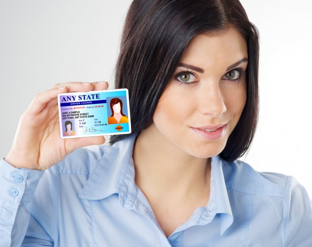 demonstration photo of woman holding id card photo stock snapwire