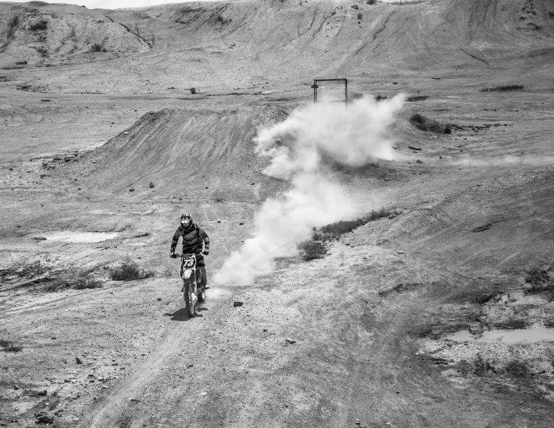 Motocross motorcycle fast race photo